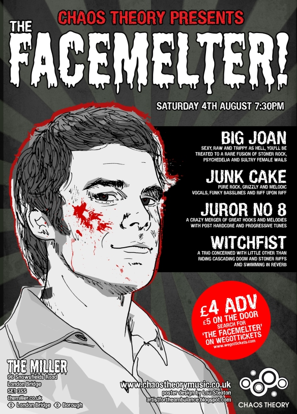 Facemelter poster with Juror Nº 8, 4 August 2012