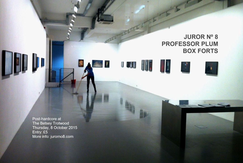 Gig poster Juror Nº 8, Professor Plum, Box Forts